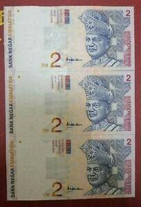 (C) RM2 10th series - 3 pcs not Running nos (UNC)