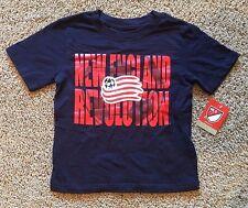 Boy's Girl's Blue New England Revolution Short Sleeve Top T-Shirt 3T