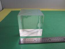 OPTICAL cube BEAM SPLITTER [some separation in middle] LASER OPTICS BIN#14
