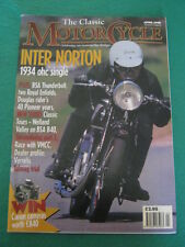 THE CLASSIC MOTORCYCLE - INTER NORTON - April 1998 vol 25 # 4
