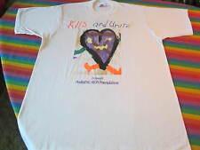 VINTAGE AIDS BENEFIT ROCK CONCERT TEE SHIRT CELINE DION EDDIE MONEY L.A. GUNS