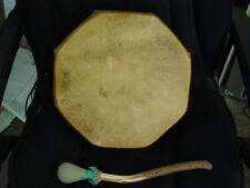 NATIVE AMERICAN OPEN BACK DRUM W/HANDLE W/GREAT SOUND FROM N.M. UNUSUAL