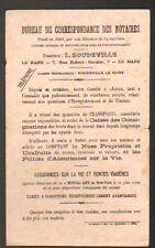 """LE MANS (72) BUVARD / Bureau de Correspondance des Notaires """"L. BOUDEVILLE"""""""