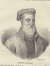 Andrea Alciato litografia 1843