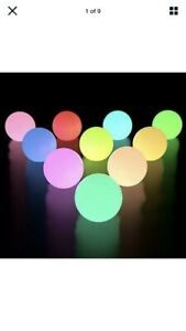 LOFTEK Floating Pool Lights 10 Pack, Color Changing LED Pool Ball Lights IP65