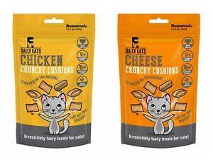 Rosewood Crunchy Cheese Salmon Chicken Cushions 60g Cat Kitten Treats Snack