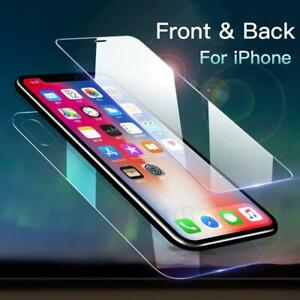 For Phone 11 Pro Max Front and Back 360 Clear Tempered Glass Screen Protector