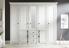 Schlafzimmerschrank Kleiderschrank Schrank Westerland 227cm Pinie weiß 400614