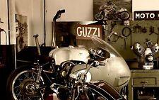 MOTO GUZZI CAFE RACER GARAGE POSTER 20 X 30 DIGITAL PHOTOGRAPHY PRINT