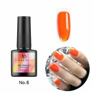 8ml Nail Art Glass Jelly UV Gel Polish Phototherapy Soak Off LED Gel Varnish