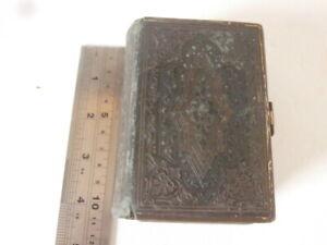 Antique Leather Bound CHURCH SERVICES Book CLASPED 1864 Oxford Uni. Press