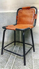 Vintage / Retro / Industrial  Real Leather Saddle Side / Dining Chair