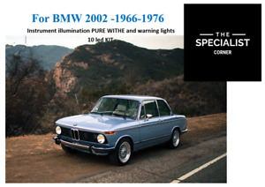 BMW 2002 SERIES 66-76 instrument PURE WHITE and warning ligths 10 LED KIT