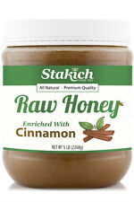 5 lb Cinnamon Enriched Raw Honey Organically Produced Pure Natural Gluten Free