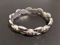 Vintage Art Deco Sterling Silver Faceted Link Bracelet