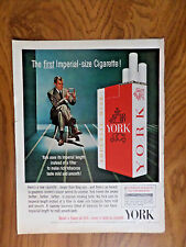 1962 York Cigarette Ad  The First Imperial Size Cigarette