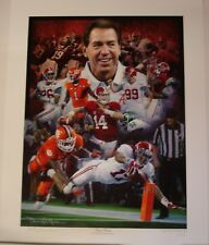"""Alabama football 2015 National Championship """"Sweet 16"""" LE print signed by Moore"""