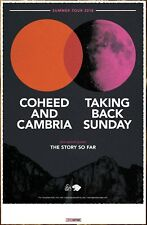 COHEED AND CAMBRIA | TAKING BACK SUNDAY 2018 Summer Tour Ltd Ed New RARE Poster!