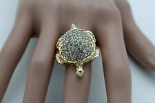 Fun Women Gold Metal Water Turtle Ring Fashion Jewelry Elastic Band Silver Bling
