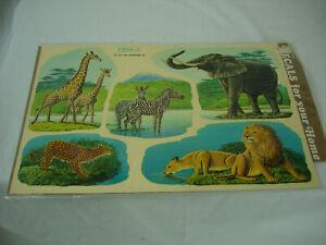Vintage Decals By Meyercord Wild Animals Tiger Giraffe Crafts Decal Stickers