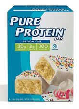 Pure Protein High Protein Bars 50g 12 Count - Birthday Cake - EXP 05/2019