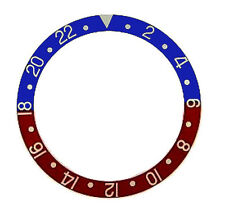 New High Quality Blue/Red Bezel Insert  for Rolex Submariner & GMT I / II
