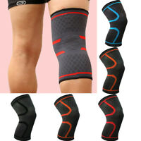 Elastic Compression Sleeve Knee Support Brace Knee Pads Sport Basketball R