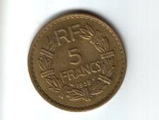 TRES BELLE + RARE  : 5 Frs BRONZE/ALU  1939  Petit Prix