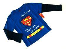 Superman Langarmshirt 98/104 blau USA size 4 Superhelden Junge Spruch neu Shirt