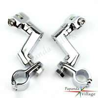 "Highway Footpeg Engine Guards Peg Mounts 1 1/2"" Magnum Clamp For Harley BMW"