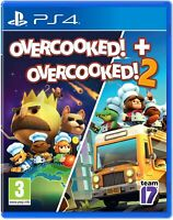 Overcooked! + Overcooked! 2 PS4 Playstation 4 Brand New Sealed