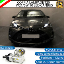COPPIA LAMPADE DIURNE POSIZIONE DRL T20 CANBUS TOYOTA YARIS MK3 RESTYLING 2017+