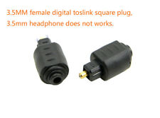 1x Optical Adapter Mini 3.5mm Female Jack Plug to Digital Toslink Male SPDIF