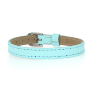 Multi-Color 8mm Genuine Leather Bracelet Charm Wristband Fit Slider Letter Charm