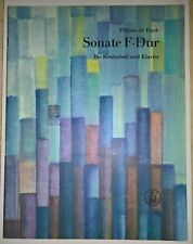 FESCH, Sonate en fa majeur pour Contrebasse et Piano / Sonate F-dur für Kontr...