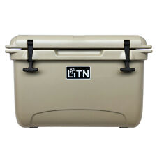 35 Cooler Ice Chest Box Cool Tan Cold Drinks Camping Hiking w/ Handle
