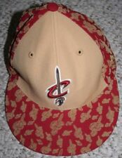 Cleveland Cavs Baseball Cap Hat Beige Red Adult Wool Mens Adidas 7 1/4 Man Sport