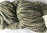 Ironstone ISLAND COTTON #608 Multi Green 8 oz Yarn Skein Boucle Thick Thin Super