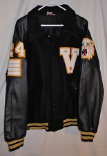 Vtg Letterman Varsity Jacket Wool Baseball Style Chenille Patch Big Size 52