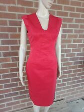 CUE Ladies Dress Size 8 RED FITTED