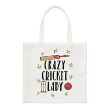 Crazy Cricket Lady Regular Tote Bag Funny Shopper Shoulder