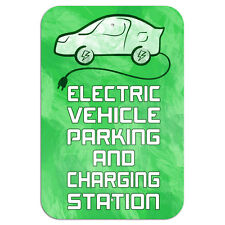 """Electric Vehicle Parking and Charging Station Novelty Metal Sign 6"""" x 9"""""""