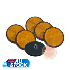 6xAmber Round Reflector install with screw RV Camper Trailer Car Auto Side Parts