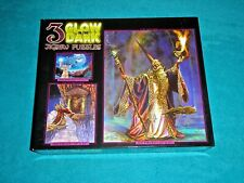 3 Glow In The Dark Jigsaw Puzzles Dragon'S Eye, Kindred Spirits & The Wizard~New