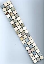 Marmor Mosaik Bordüre schlammiger Mix 4,9x30x0,8cm; 1,5x1,5cm