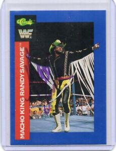 RANDY SAVAGE 1991 CLASSIC AUTOGRAPH CARD HAND SIGNED SUPER RARE! SUPERSTAR W/COA