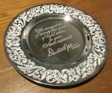 Avon 25th Anniversary Award Plate Sterling Silver Made in England Original Box