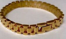 Rolex Stainless Steal Gold Plated Unisex BRACELET 8.5 Inc.