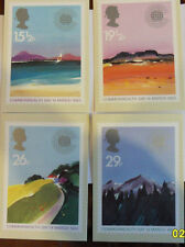 Set Four Royal Mail Stamp Postcards for Commonwealth Day Issued 14th  March 1983