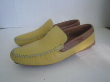 Moreschi Yellow Calf Leather Driver Moccasins  Sz 7 Italy $ 900
